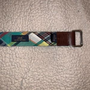 Brooks Brothers Plaid Belt